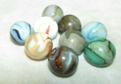 """271 Jabo Marbles 9 Lot Classic 2007 Shooter 1"""" +/- Good--Excellent"""