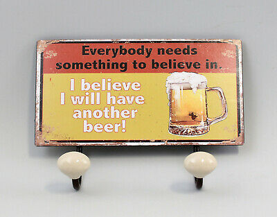 9977559 Hook bar Wardrobe Metal Beer Vintage 18x23cm