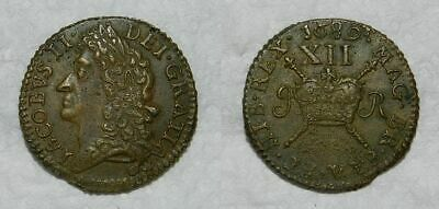 Ireland :  James Ii Gun Money Shilling 1689 -  Gvf