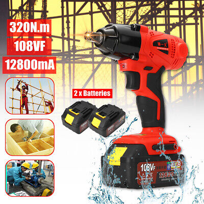 108VF Cordless Elctric Wrench Rattle Gun Driver Dril Power Battery Tool