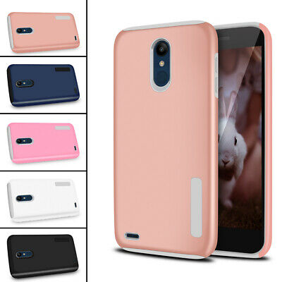 For LG K8 2018 / Zone 4 Case Slim Hybrid Hard Soft Dual Layer Protection Cover