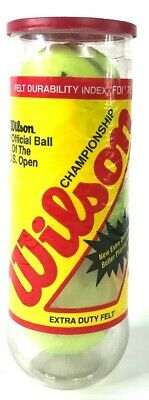 Wilson Championship Extra-Duty Tennis Balls - Can of 3 US Open Official FDI 70