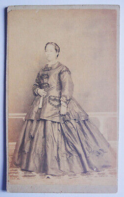 PHILIPPINES 1870s Carte de Visite Filipina by Pedro Picon, Fotografo  ANTIQUE