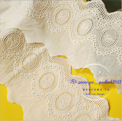 Embroidery Floral Cotton Lace Trim Ribbon Wedding Fabric Sewing decoration FL303