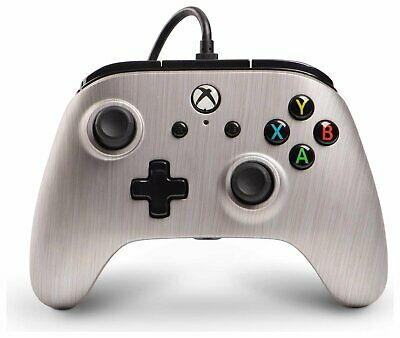 Enhanced Wired Controller for Microsoft Xbox One - Brushed Aluminum
