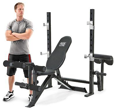 Marcy Pro Olympic Bench with Squat Rack.