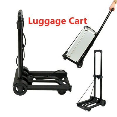 Mini Portable Folding Luggage Accessorie Cart Wheels Mult-Use Travel Tool