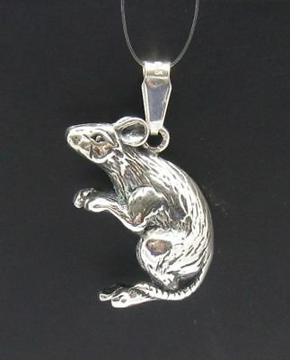 Sterling Silver Pendant Rat Mouse Genuine Solid Hallmarked 925 Handmade