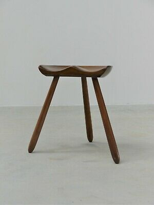 1960s VINTAGE ORIGINAL ARNE HOVMAND OLSEN THREE LEGGED MILKING STOOL DENMARK