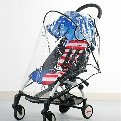 Clear Universal Rain Cover Pushchair Raincover For Buggy Stroller Pram Baby Car