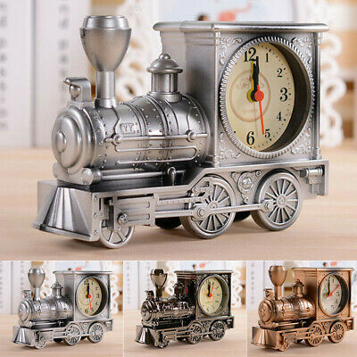 Dining Desk Clock Vintage Train Bedroom Decoration Interior Design Accessories