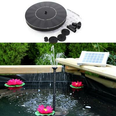 Solar Power Water Panel Fountain Pump Pool Garden Pond Submersible 200L/h 1.4W