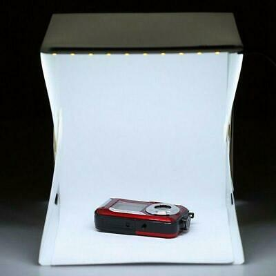 Foldable Photo Studio Lighting Room Photography USB LED Light Backdrop Box Cube