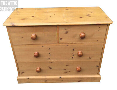 Vintage Solid Pine Chest of Drawers, Victorian Style
