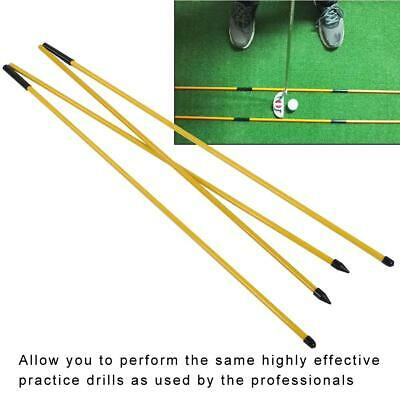Golf Alignment Stick Swing Tour Trainer Rod Ball Striking Aid Practice Access