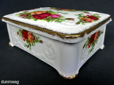 OLD COUNTRY ROSES OBLONG LIDDED BOX, 1st QLTY, VGC, 1962-73 ENGLAND ROYAL ALBERT