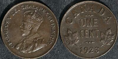 1923 Canada  small cent very nice circulated condition