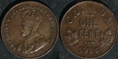 1924 Canada  small cent very nice circulated condition
