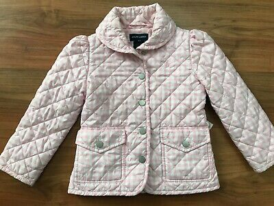 Girls Pink Checked RALPH LAUREN RIDING JACKET (age4) *NICE COND*