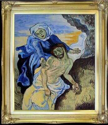 Framed Quality Hand Painted Oil Painting Repro Van Gogh Pieta 20x24in