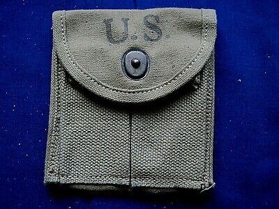 Vintage 1943 US Army WWII AVERY M1 Carbine ammo clip pouch - unissued?