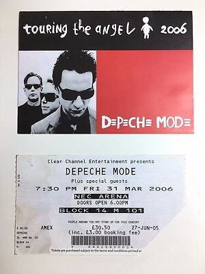 Depeche Mode Concert Ticket 2006 Touring The Angel