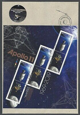 2019 Apollo 11 Limited FDC with Full Pane of 6 + extra sticker