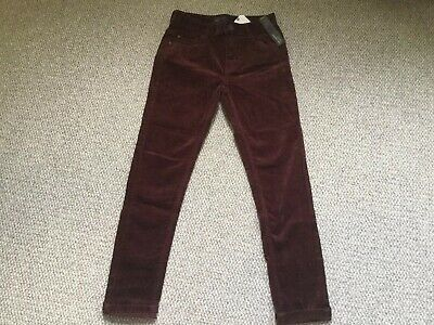 New With Tags Boys Burgundy Skinny Cord Trousers By Next Age 11 Years
