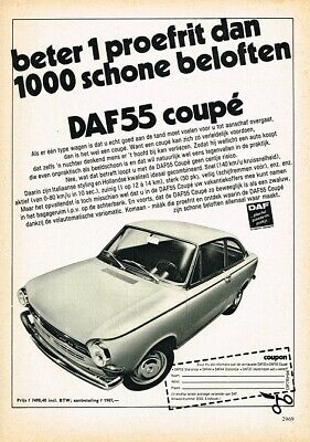 1969 DAF 55 Coupe (NL, 1pg.) Advertisement