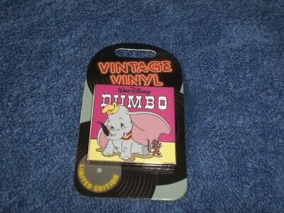 Disney 2019 Pin Of The Month Vintage Vinyl  DUMBO & TIMOTHY LE Slider Pin
