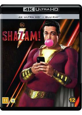 Shazam! 4K Ultra Hd Blu-Ray New/Sealed (A-B-C) Dolby Atmos 7.1 (From Dc Comics)