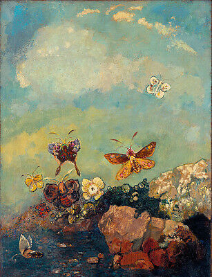 """perfect 24x36 oil painting handpainted on canvas """"butterflies""""@N3358"""