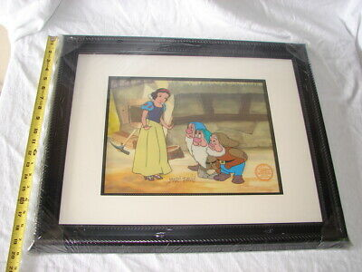 Sericel Animation Picture Serigraph Cell Cel Disney Snow White Signed Marc Davis