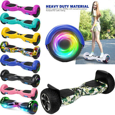 """6.5"""" Bluetooth Speaker Hoverboard Self Balance Electric Scooter Side LED UL2272"""