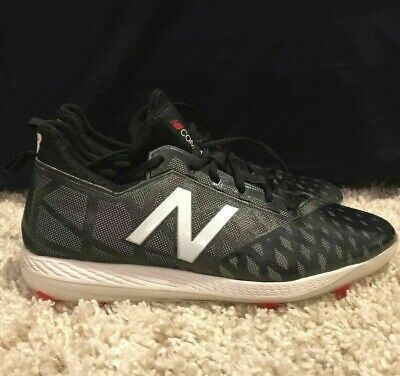 New Balance COMPBK1 Men's COMPv1 TPU Cleats Low Cut Black/White Baseball Shoes