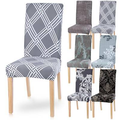 6Pcs Stretch Dining Chair Cover Removable Slipcover Washable Banquet Furniture