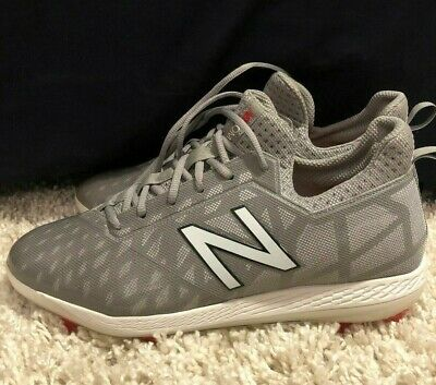 New Balance COMPTG1 Men's COMPv1 TPU Cleats Low Cut Grey/White Baseball Shoes