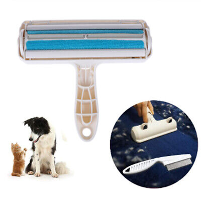 2-Way Pet Hair Remover Roller Lint Sticking Dog Hair from Furniture Carpet