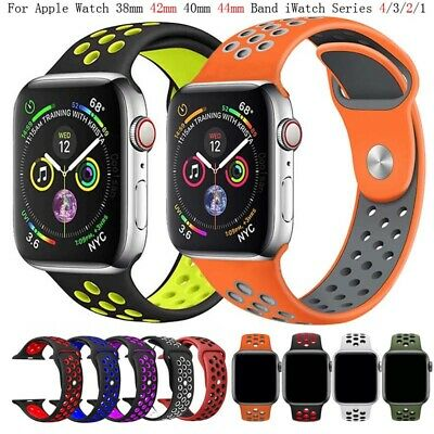 Replacement Silicone For Apple Watch 1/2/3/4 iWatch Sport Band Strap 44mm 38mm