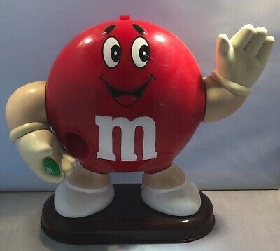 Vintage Mars M&M Red Candy Dispenser 1992 - T&W In Great Used Condition #RARE