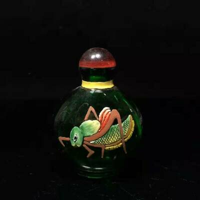 Collection of Chinese folk fine glass painting snuff bottles