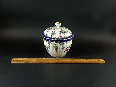 Antique First Period Dr Wall Worcester  Covered Sugar Bowl James Giles C 1765
