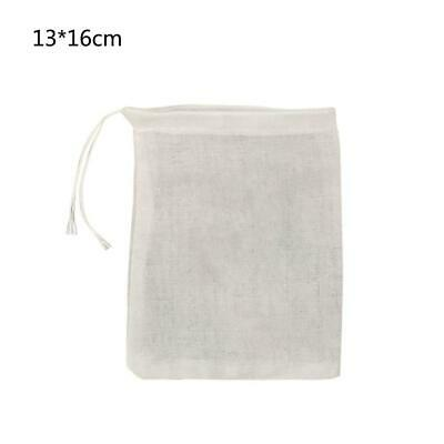 3pcs Cotton Muslin Empty Teabag String Heat Seal Filter Paper Herb Loose Tea Bag