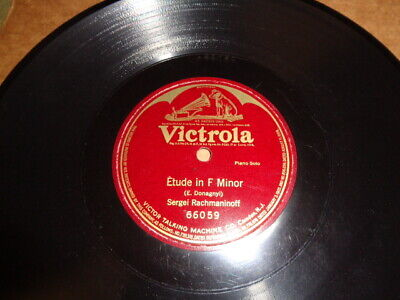 VICTOR LOGO//VICTROLA 1-Sided 78/SERGEI RACHMANINOFF-Piano Solo/E