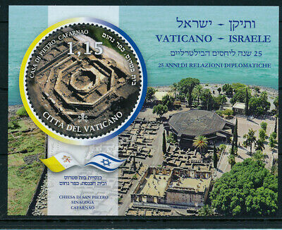 Vatican 2019 Joint Issue With Israel S/Sheet Mnh
