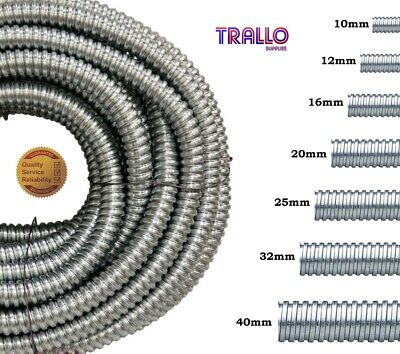Premium 10mm,12mm,16mm,20mm,25mm,32mm,40mm - Metallic -Steel Galvanised Conduit