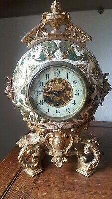 Oval French Clock Circa 1890