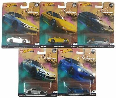 Hot Wheels Car Culture - 2019 Street Tuners Set of 5 Pandem Nissan Honda FPY86