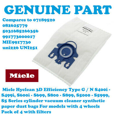 12 Vacuum Cleaner Dust Bags For Miele GN Hoover 3D S8360 S8370 EcoLine S8390