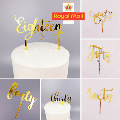 CUSTOM Glitter Cake Topper Personalised 18th,21st,30th,40,50,60th Birthday W